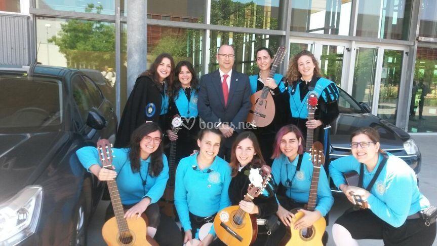 Con el alcalde Almería