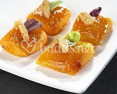 Raviolis de calabaza caramelizados