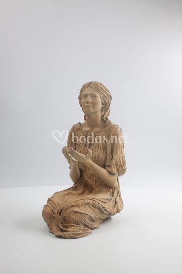 Virgen de Alegra en bronce