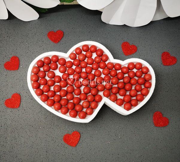 Candy bar de corazones