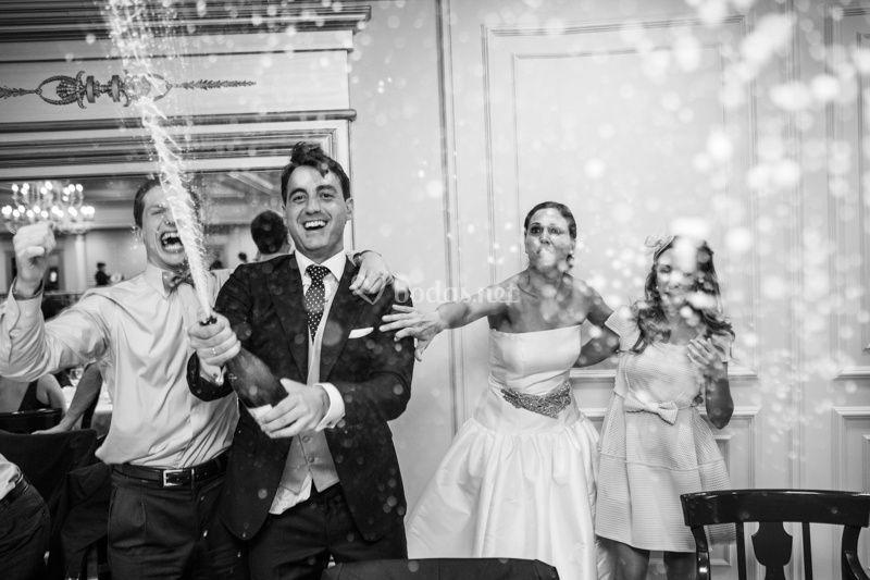 El champán de la boda