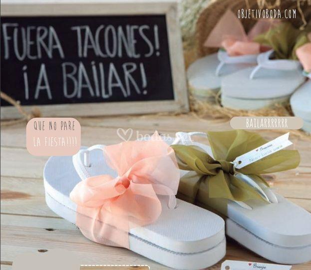 Chanclas boda