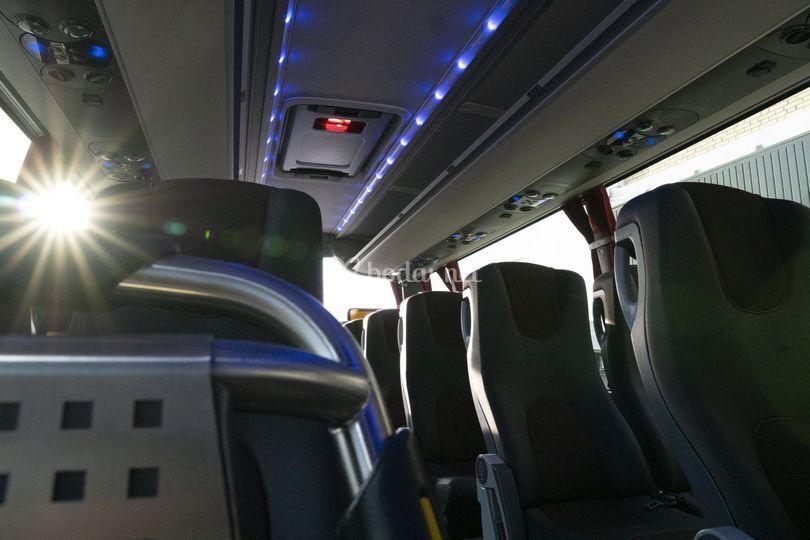 Interior del bus, 55 Plazas