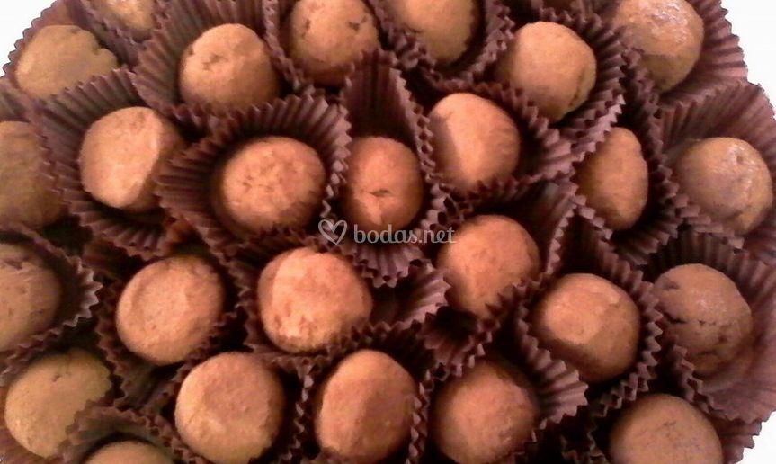Trufas recubiertas de cacao