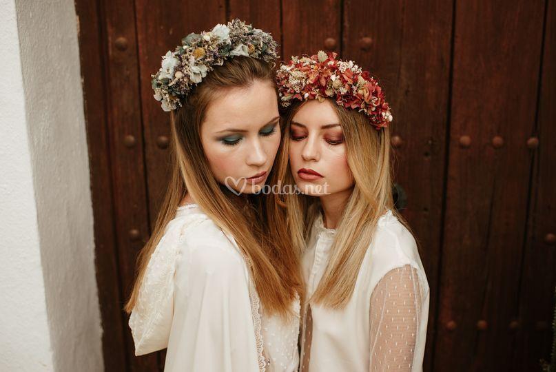 Coronas y diademas de flores