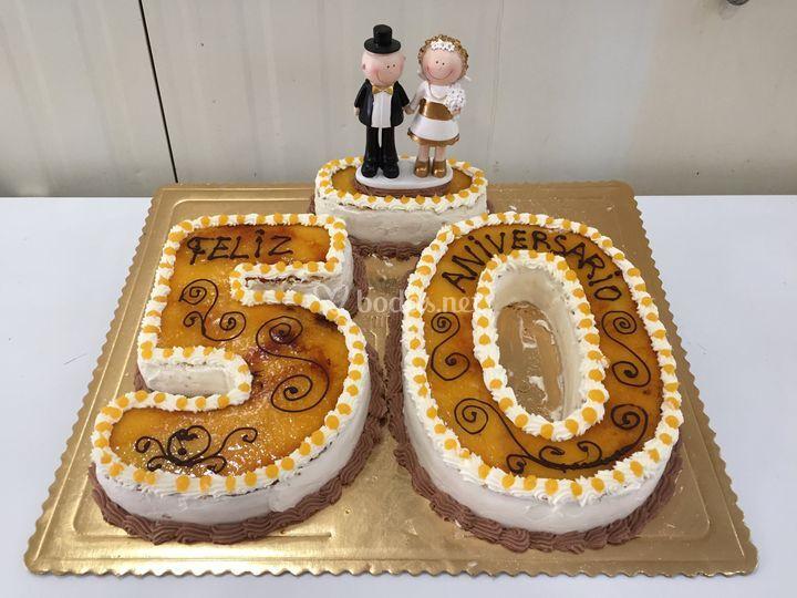 Tarta de aniversario 50 años