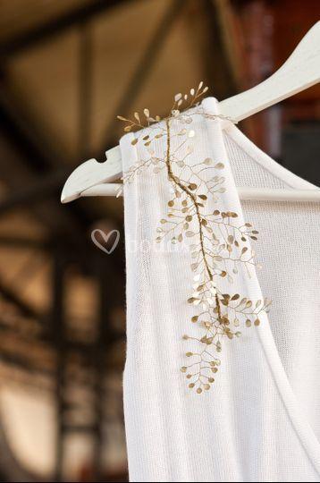 Detalle vestido novia