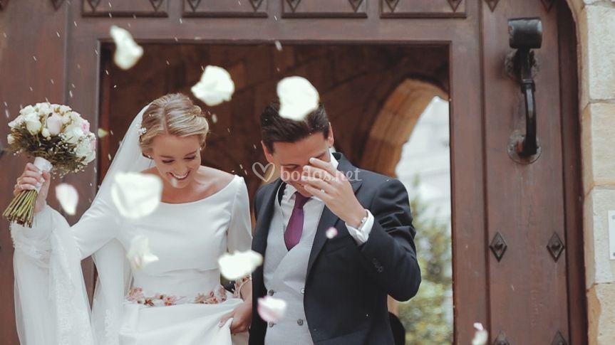 Vídeo de boda recién casados
