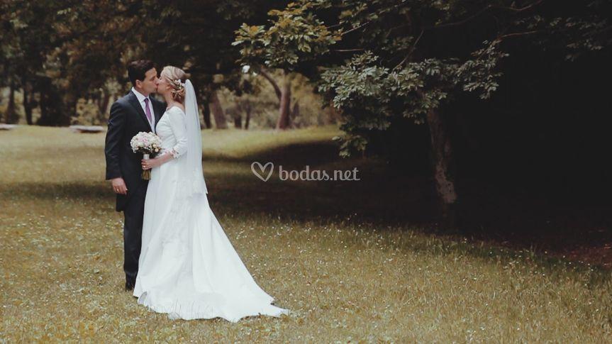 Vídeo de boda beso