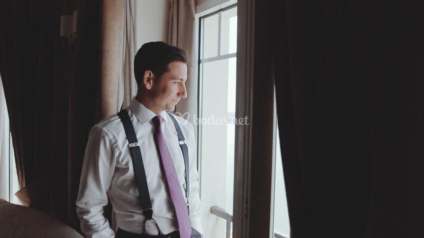 Vídeo de boda novio chaqué