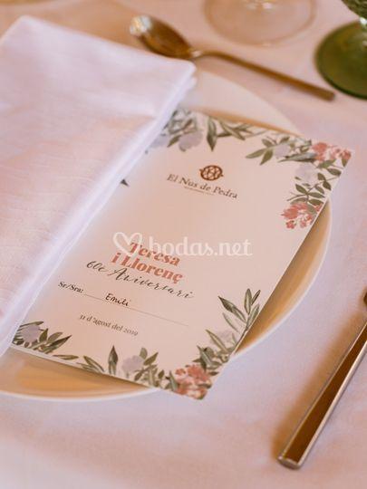 Menú de bodas