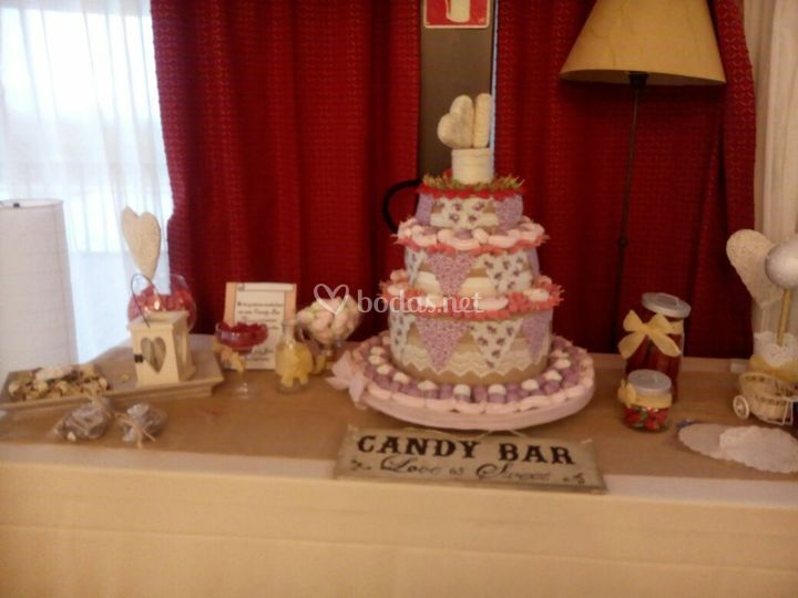 Candy bar y tarta
