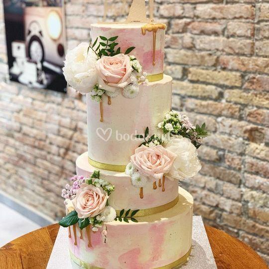 Boda romántica en rosa palo