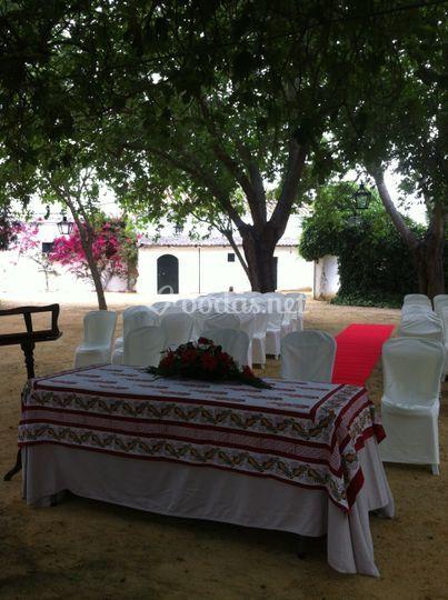 Ceremonia en Morera