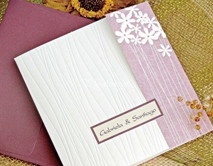 Invitación clásica de boda