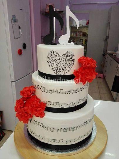 Tarta boda musical