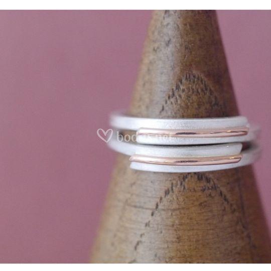 Plata y oro rosa: armonía
