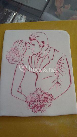 Impresión para tartas de boda