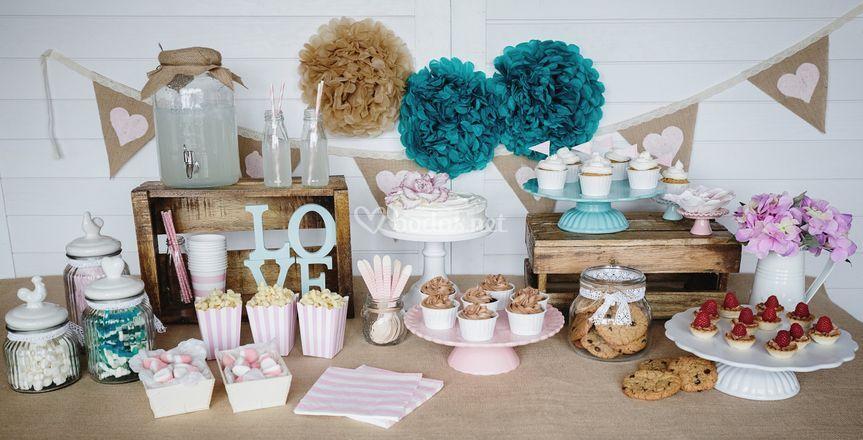 Mesa de dulces Boda Romantica