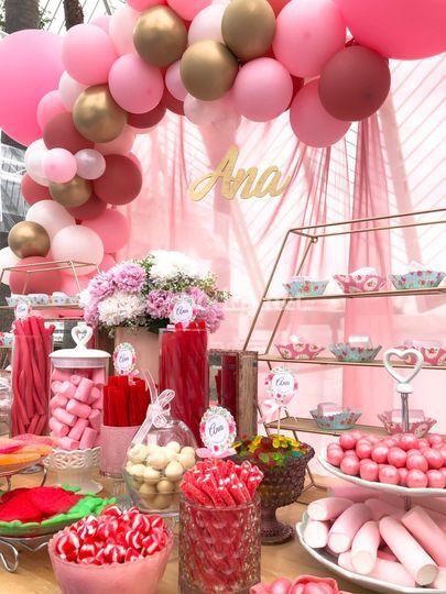 Candybar, mesa dulce