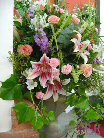 Exorno floral de iglesia