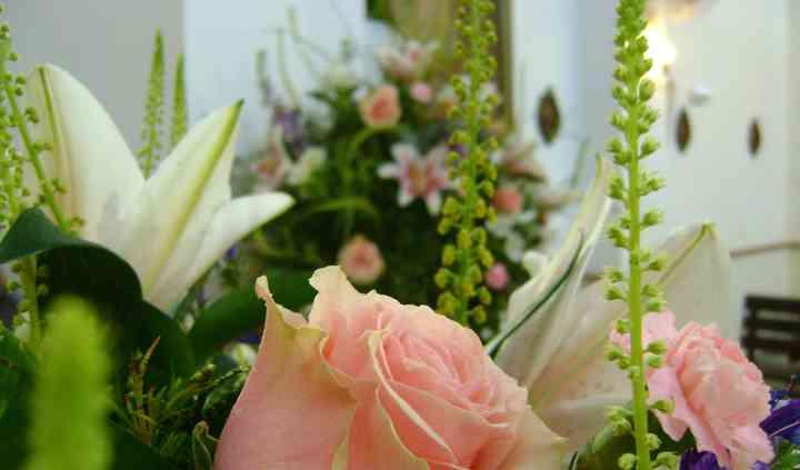 Detalle de exorno floral