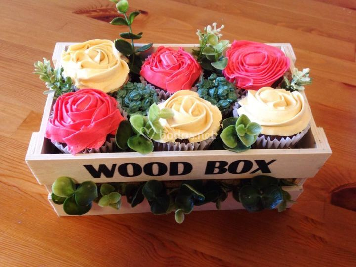Jardinera de cupcakes
