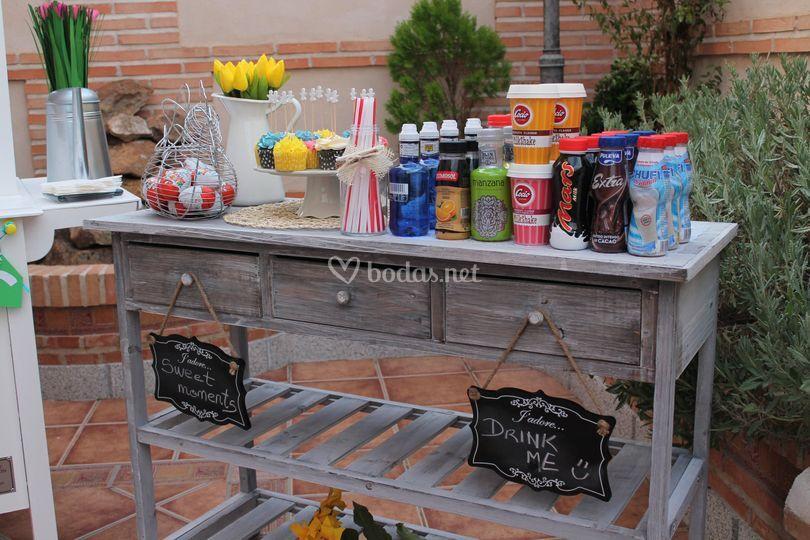 Mesa bebidas