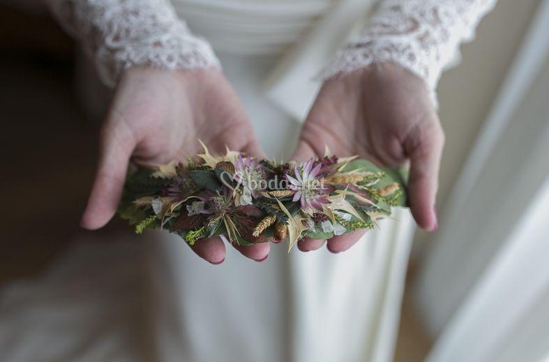 Tocado de novia natural