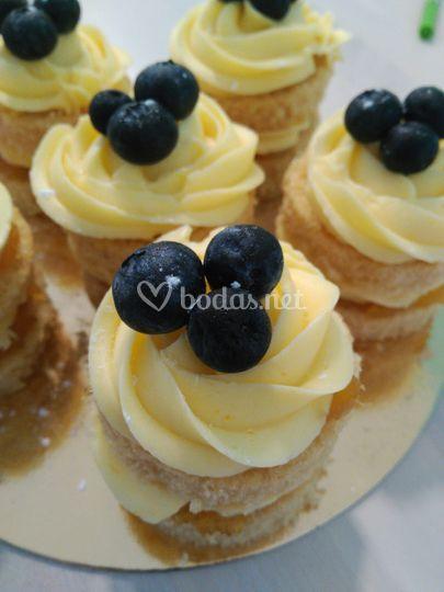 Mini cakes con arándanos