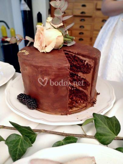 Tarta de chocolate y moka