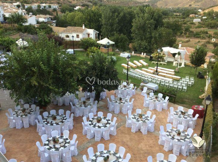 El rinc n del acebuche for Decoracion boda exterior