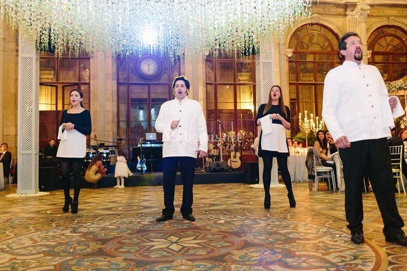 Flash mob camareros