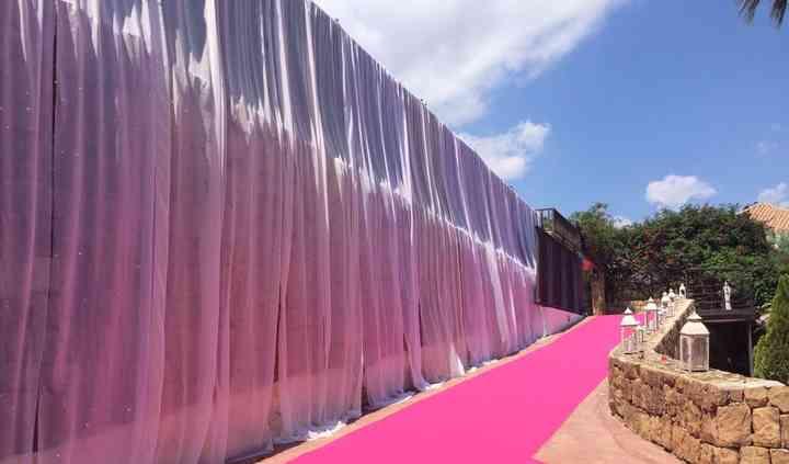 Moqueta rosa