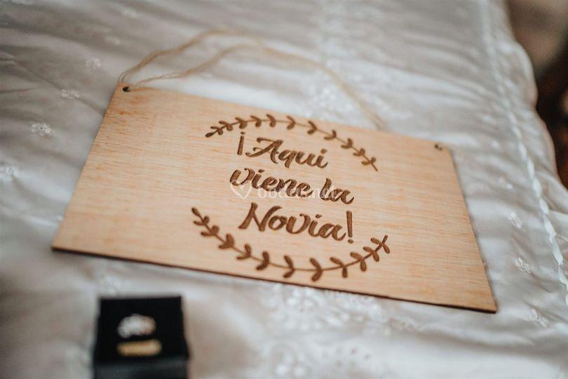 Cartel de novia