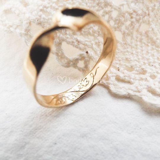 Anillos de boda, oro amarillo