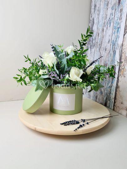 Cajita de flores.