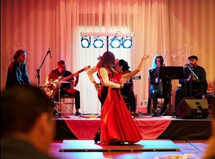 Boda Cuadro flamenco en cena