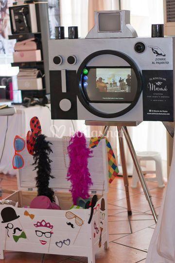 Fotomatón diseño cámara