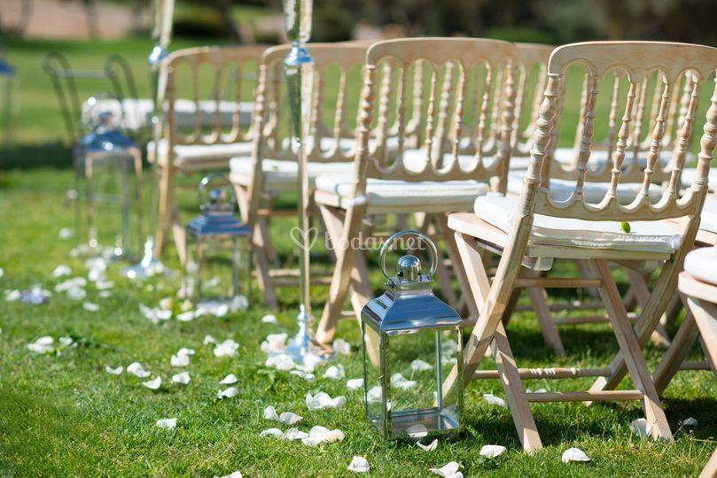 Detalle de la ceremonia civil
