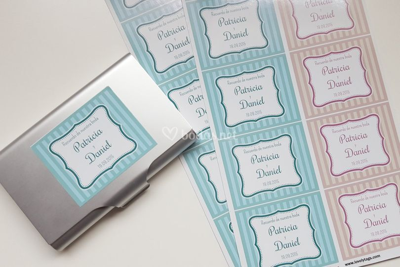 Etiquetas boda diseño Classic