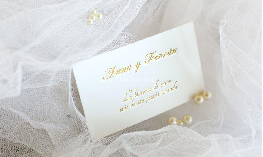 Invitación de boda tarjeta