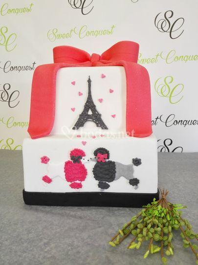 Tarta de París Romántico