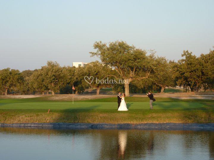 Sesión fotográfica campo golf