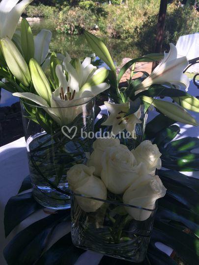 Detalle flores altar