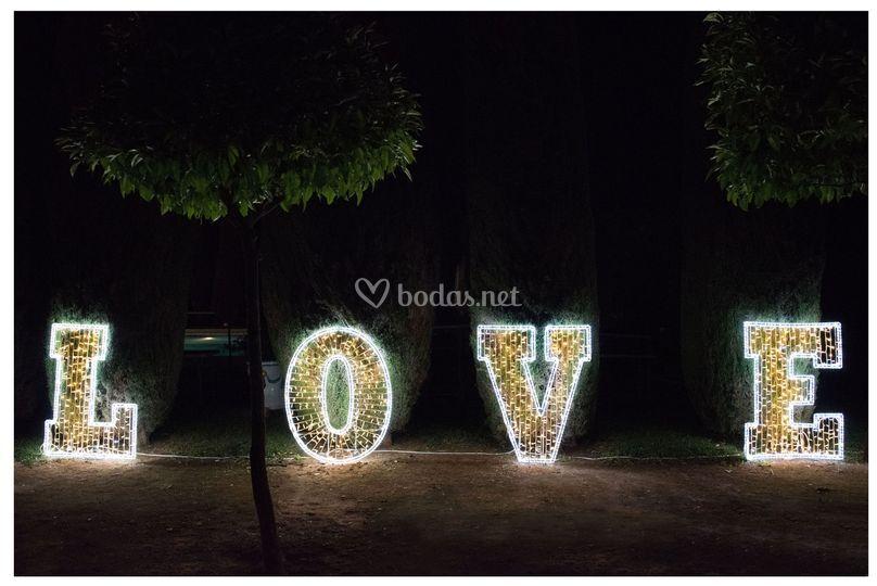 Love luminoso led