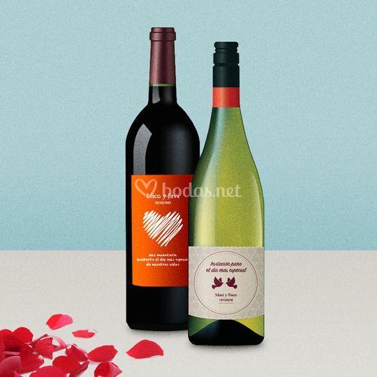 Personaliza el vino de tu boda