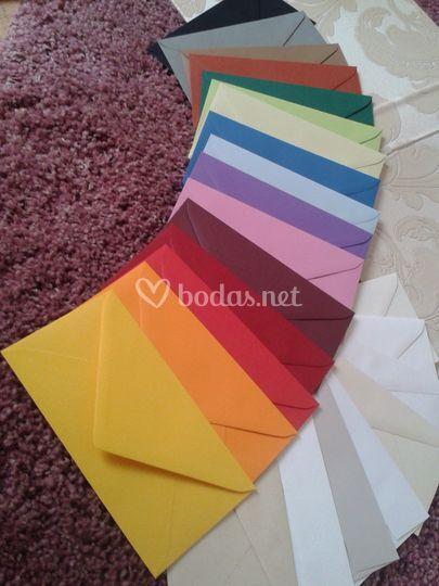 Sobres de colores