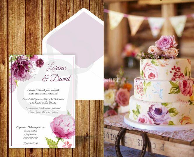 Invitacion + tarta
