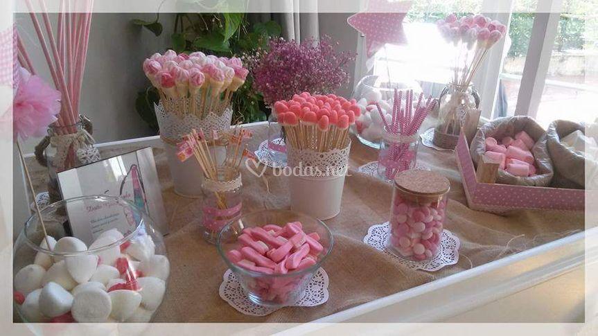 Do a gominola mesas dulces - Carro de chuches comunion ...